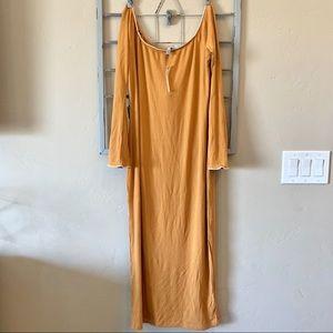 New- ASOS yellow bell sleeve dress